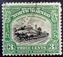 Borneo 1925 Train Railways Yvert 218 O Used - Nordborneo (...-1963)