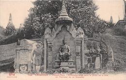 ¤¤  -  CAMBODGE   -  PHNOM-PENH   -  Monument érigé Dans Le Jardin De La Ville En L'honneur Du Roi Sisowath   -  ¤¤ - Cambodja