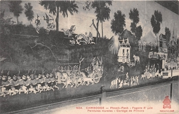 ¤¤  -  CAMBODGE   -  PHNOM-PENH   -  Pagode Royale - Peinture Murales - Cortège De Princes   -  ¤¤ - Cambodja