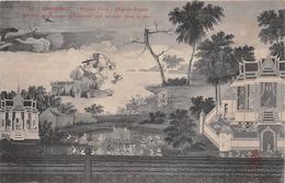 ¤¤  -  CAMBODGE   -  PHNOM-PENH   -  Pagode Royale - Le Roi Des Singe Précipitant Son Ennemi Dans La Mer  -  ¤¤ - Cambodja