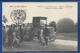 LANGRES    Siège     Manoeuvres De Forteresse 1906  Ballons De L'Armée D'Attaque     Animées     écrite En 1906 - Langres