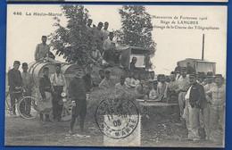 LANGRES   Siège   Manoeuvres De Forteresse 1906  Remplissage De La Citerne Des Télégraphistes    Animées  écrite En 1906 - Langres