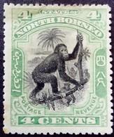 Borneo 1897 Animal Singe Monkey Yvert 76 * MH - Nordborneo (...-1963)
