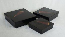 3 Japanese Urethane Nesting Boxes - Dishware, Glassware, & Cutlery