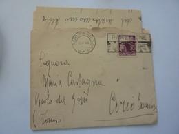 Busta Viaggiata Da Milano Per Corio Canavese ( TO ) Con Lettera Manoscritta 1950 ANNULLO PANETTONE MOTTA - 6. 1946-.. Repubblica