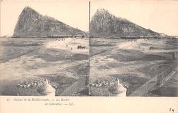 ¤¤  -  GIBALTAR   -  Carte-Stéréo   -  Le Rocher   -  Autour De La Méditerranée    -  ¤¤ - Gibraltar