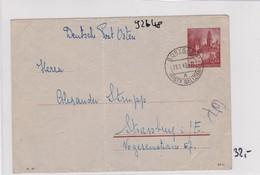 GG: Ganszachenumschlag Von Boryslaw Nach Strassburg, Bug - Occupation 1938-45