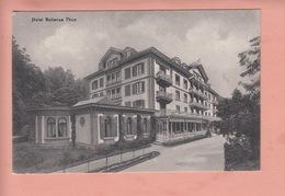OUDE POSTKAART ZWITSERLAND - SCHWEIZ -  SUISSE - THUN - HOTEL BELLEVUE - BE Berne