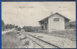 MAILLEY   La Gare     Train       Animées    écrite En 1912 - Other Municipalities