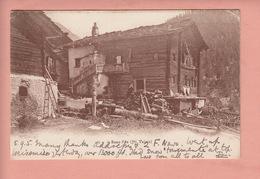 OUDE POSTKAART ZWITSERLAND - SCHWEIZ -  SUISSE -    SAAS FEE  1905 - VS Valais