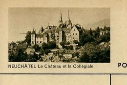 Carte Illustré Neuve N° 182 - 0273 G  NEUCHÂTEL Le Château Et La Collégiale  (Zumstein 2009) - Ganzsachen