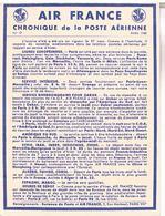 AIR FRANCE  CHRONIQUE  DE LA POSTE  AERIENNE   N°19     TBE  AF07 - Aérodromes