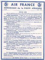 AIR FRANCE  CHRONIQUE  DE LA POSTE  AERIENNE    SERVICE D ETE  N°28  TBE  AF02 - Aérodromes