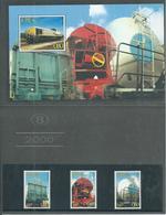 2000 Belgium Spoorwegen/NMBS/TRV Complete Set+M/Sheet In Carnet MNH/Postfris/Neuf Sans Charniere - Railway