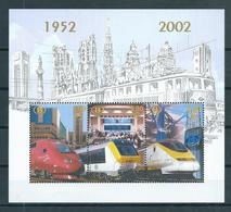 2002 Belgium Spoorwegen/NMBS/TRV Complete M/Sheet MNH/Postfris/Neuf Sans Charniere - Trains