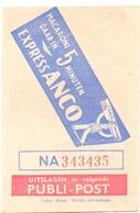 Biljet Loterij - Billet Loterie - Pub Reclame - Publi Post - Macaroni Anco - Billets De Loterie