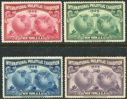 USA 1926 New York Philatelic Exhibition Railway Train Ship Plane Rider Eisenbahn Zug Chemin De Fer Vignette Poster Stamp - Trenes