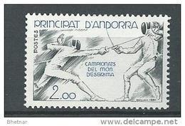 "Andorre YT 296 "" Escrime "" 1981 Neuf** - Nuovi"