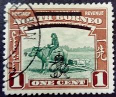 Borneo 1947 Animal Buffle Buffalo Surchargé Overprinted Yvert 259 O Used - Nordborneo (...-1963)