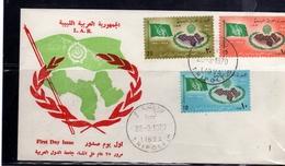 LIBYA LIBIA REPUBLIC GADDAFI ISSUE GHEDDAFI 1970 ARAB LEAGUE LEGA ARABA SERIE COMPLETA SET FDC - Libia