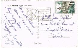 O.MEC SECAP  STRASBOURG GARE FESTIVAL ETUDIANT SUR CPSM - Marcophilie (Lettres)