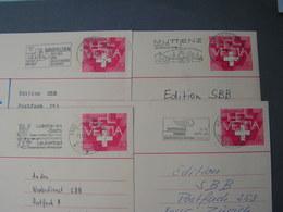 CH 4 Alte Karten  , Schöne Stempel Ca. 1980 Z.B. Leukerbad , Muttenz , Biersfelden - Ganzsachen