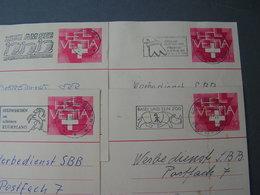 CH 4 Alte Karten  , Schöne Stempel Ca. 1980 Z.B. Zug Am See ,Basel Nashorn ,Steinhausen - Ganzsachen