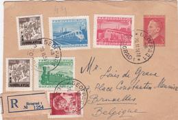Lettre Recommandée Yougoslavie - Entier Postal Stationery  + Timbres  - 1951 - Postal Stationery