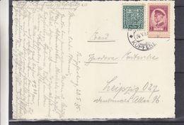 Tchècoslovaquie - Carte Postale De 1935 - Oblit Kupferberg - Exp Vers  Leipzig - Armoiries - Cecoslovacchia