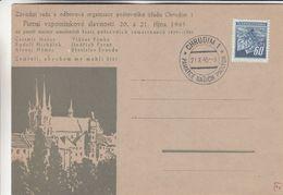 Tchècoslovaquie - Carte Postale Illustrée De 1945 - Oblit Chrudim - - Tschechoslowakei/CSSR