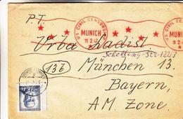 Tchècoslovaquie - Lettre De 1947 - Exp Vers München - Avec Censure - Tschechoslowakei/CSSR