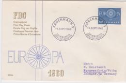 Denmark 1960  FDC Europa CEPT (G84-84) - Europa-CEPT