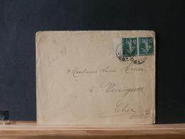 A9499C    LETTRE  FRANCE BORD DE FEUILLE   OBL. TRESOR ET POSES    1914 PRIX DEPART 1 € - 1906-38 Säerin, Untergrund Glatt