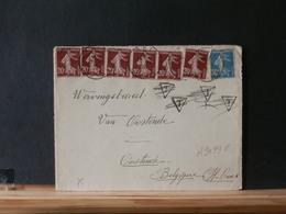 A9499E   DEVANT DE LETTRE  FRANCE   1936  POUR LA BELG.PRIX DEPART 1 € - 1906-38 Semeuse Camée