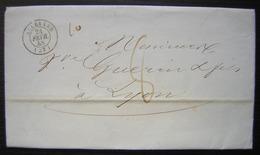 Allevard (Isère) 1848, Lettre Pour Lyon - Marcophilie (Lettres)