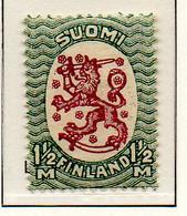 PIA - FINLANDIA - 1925-29  : Uso Corrente - Stemma  (Yv 116) - 1856-1917 Amministrazione Russa
