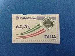 2013 ORDINARIO BUSTA 0,70 ITALIA FRANCOBOLLO USATO STAMP USED - 2011-...: Usati