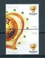 2003 Portugal Pair EURO 2004 Football,soccer Used/gebruikt/oblitere - 1910-... Republic