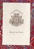"""Ex-libris  RENE DE BATZ """" Toujours Plus"""" Dans Un Livre Relié Demi Maroquin De R Kipling (PPP10777) - Ex-libris"""