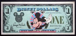 1987  One Disney Dollars 'Mickey' ( Lot  6378 ) - Other - America