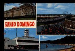 C1394 REPUBLICA DOMINICANA - SANTO DOMINGO - VISTAS CON CUARTEL CUERPO DE BOMBEROS PUENTE PLAYA VIAJADA 1978 - Repubblica Dominicana