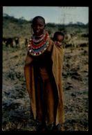 C1404 KENYA - MASAI WOMAN  WITH BABY FEMME AFRICAINE FOLKLORE ETHNICS PEOPLE OF AFRICA - Kenia