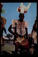 C1405 KENYA - ACHOLI DRUMMER FOLKLORE ETHNICS PEOPLE OF AFRICA 1967 - Kenia