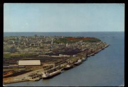 C1411 MOÇAMBIQUE - LOURENÇO MARQUES - VISTA DA CIDADE E CAIS VIAJADA 1975 - Mozambique