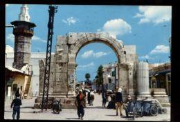 C1436 SYRIA SYRIE - DAMASCUS DAMAS - STRAIGHT STREET AND ROMAN ARCH RUE DROITE ET L'ARC ROMAIN 1966 - Siria