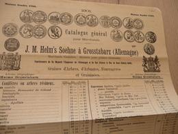 Catalogue Général Illustré Médaille Allemagne Helm's Soehne Grosstabarz 1901  Horticulture Graines - Allemagne