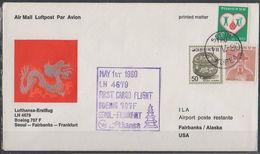 Luftpost Echt Gelaufen     Lufthansa Erstflug  Seoul - Fairbanks      1980 - [7] Federal Republic