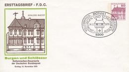 PU 115/33  Ersttagsbrief Schloss Rheydt, Bonn 1  (Privatganzsache) - BRD