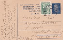 Entier Postal Stationery  Yougoslavie - 1951 - Envoi Vers Le Congo Belge - Entiers Postaux