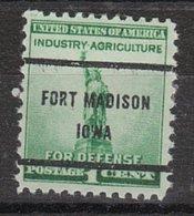 USA Precancel Vorausentwertung Preo, Bureau Iowa, Fort Madison 899-61 - Vereinigte Staaten